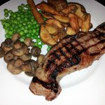 Steak night with hand cut chips
