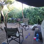 Our private little tent area with our braai