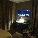 Flat panel TV and desk