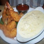                    fried shrimp and risotto