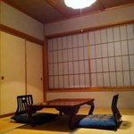 tatami room set up during the day