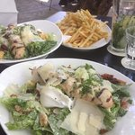  Caesar salad and rosemary chicken