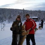 A great Husky Ride. With 4 husky sled teams we had a great trip thru the forre