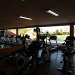 Aerobic Gym, there is a Separate Weights room