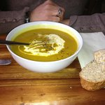  Carrot &amp; coriander soup with crusty bread