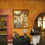 Taken in foyer looking into dining room; we loved the paining