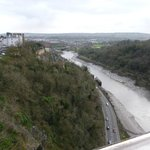 hotel in top left hand corner taken from clifton suspension bridge