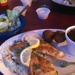 grilled catfish plate with side salad