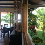                    Indoor Outdoor dining at El Castillo