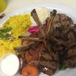 lamb chops w/rice