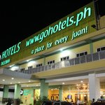 Go Hotels Tacloban Facade at Night