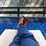 My feet and the private pool