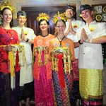 Our family in Balinese outfits