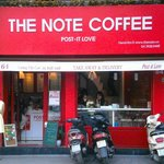 The Note Coffee from the outside