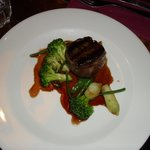 Fillet of beef with San Danielle ham and red wine sauce