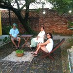 Having fun under the neem tree