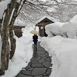                    Passage to the outdoor onsen
