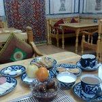 The best breakfast in Central Asia.