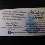 Healing Touch Caye Caulker Belize card