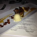                    Elvis Bread Pudding with peanut butter ice cream and banana