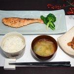 Three days in homemade miso marinated, grilled organic salmon;  Swiss organic soy bean miso