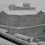 View of the Hotel Ekant after the snow fall..amazing!!