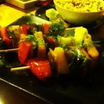 Grilled vegetable skewers...amazing!!