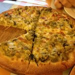                                     Green curry pizza