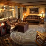 The living room area of the Pioneer Suite