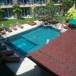 One of two pool's in hotel