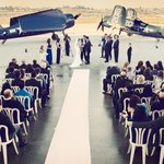 Wedding at Commemorative Air Force Camarillo Airport Museum