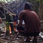 cooking our lunch in the jungle using bamboo - amazing!
