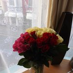                    Flowers they gave us in our room for anniversary