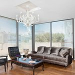 Luxurious Penthouse - Specious Living Room Sorounded with Decked Balcony