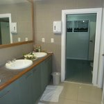                                      Riverside-spacious, clean bathroom area
