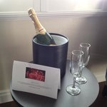 Beach Bungalow Inn & Suites had Champagne waiting for us on our arrival for ou