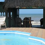                    View from the pool/bar to the beach