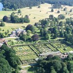 Aerial view of the garden and parkland