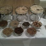                    Breakfast granola options