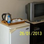 Old TV and noisy old fridge