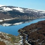 Mavrovo Lake view from ski area