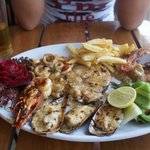                    Seafood plate