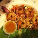lentil and shrimp salad