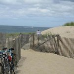                    beginning of walk down dune