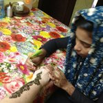                    My henna artiste!