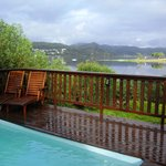Pool deck overlooking Knysna Lagoon