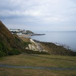 View looking down towards Ventnor from Undercliff - Car park