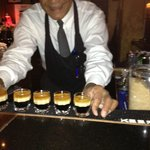 Bartender preparing some yummy drinks!