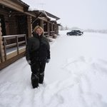                    Front of standard motels - January 2013 Fresh Snow