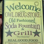 Owl Drug Store Old Fashioned Soda Fountain and Grill